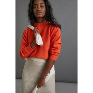 Anthropologie Beverly Mock Neck Sweater Apricot